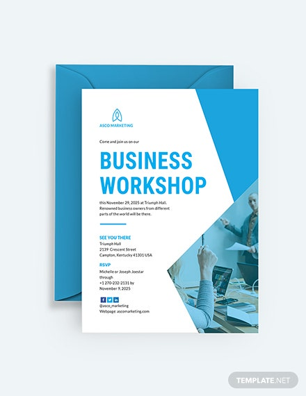 Business Invitation Card Sample