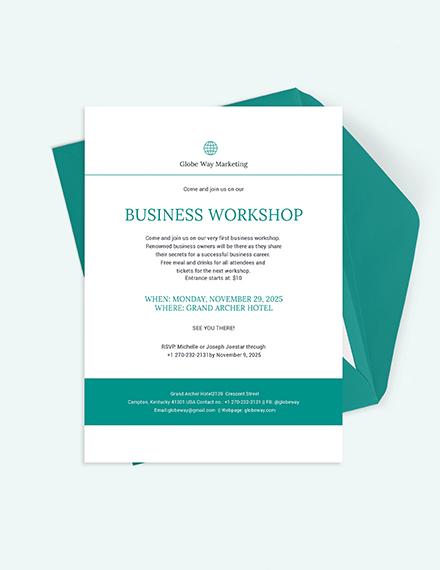 Business Invitation Download