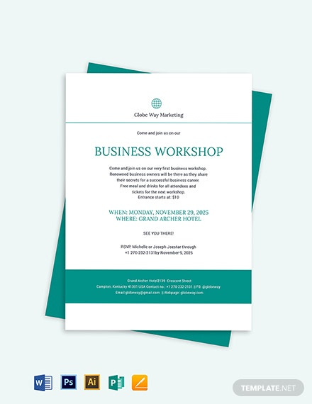 Business Invitation Template