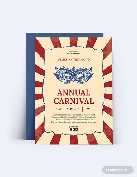 Carnival Invitation Download
