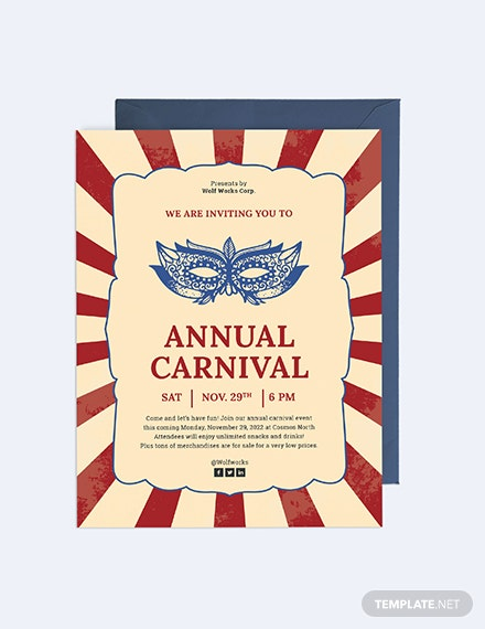Sample Carnival Invitation