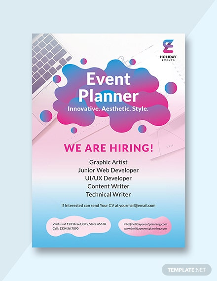 Event Planner Announcement Template