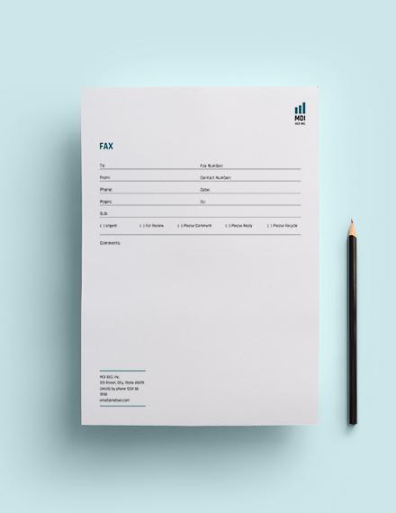 SEO Fax Paper Template