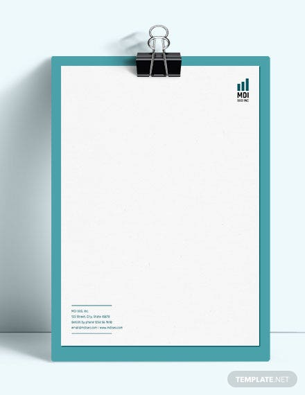 Sample SEO Letterhead Template