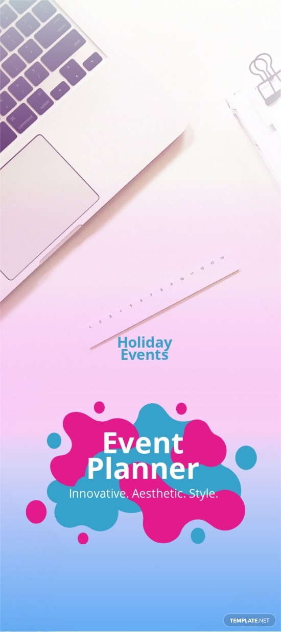 Event Planner DL Card Template