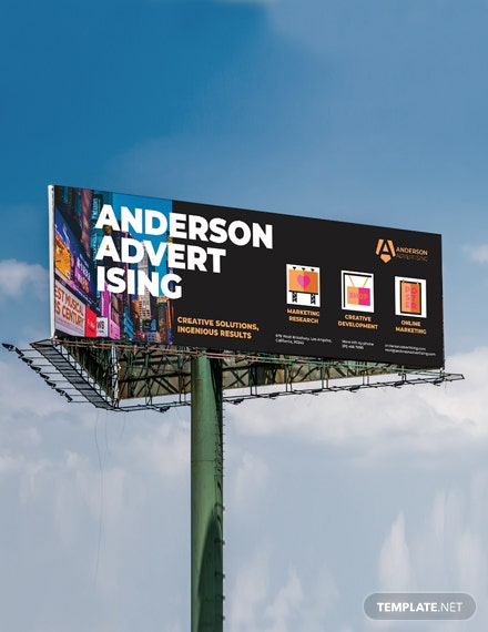 Advertising agency Billboard Template