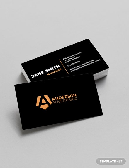 Advertising agency Business Card Template