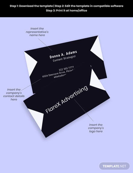 advertising agency business card