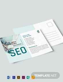 SEO Postcard Template