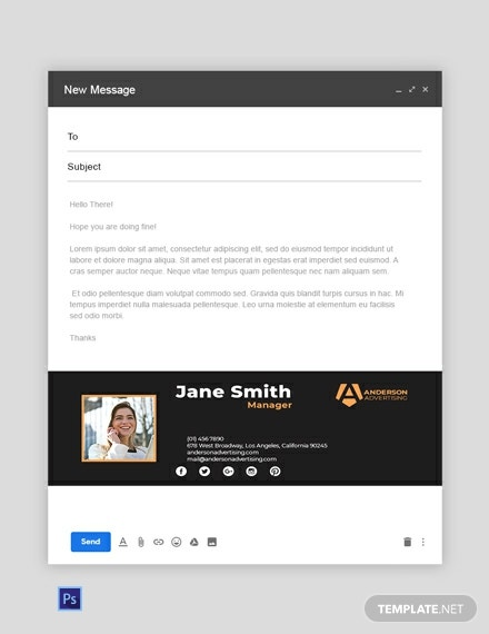 Advertising agency Email Signature Template