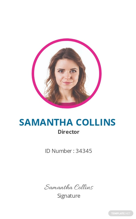Event Planner ID Card Template [Free JPG] - Illustrator, InDesign, Word, Apple Pages, PSD, Publisher