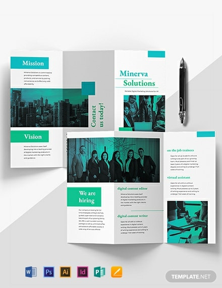 Business Training Tri-Fold Brochure Template