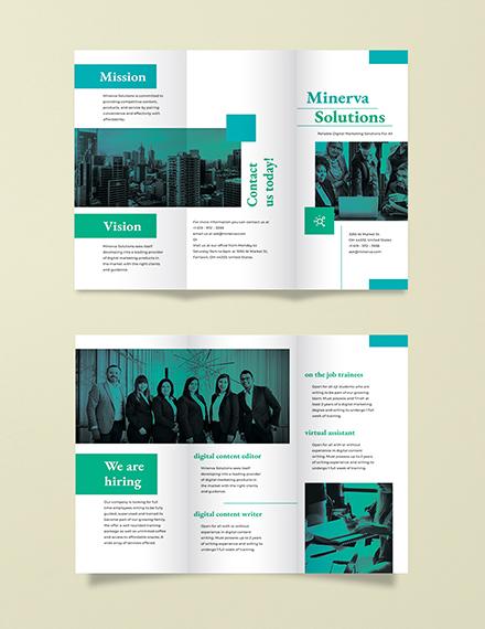 Business Training Tri-Fold Brochure Template