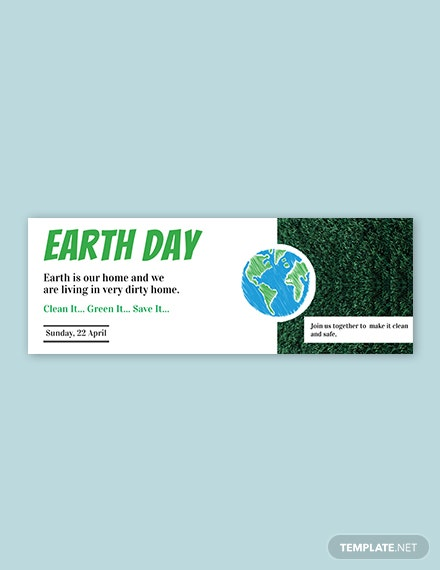 Free Earth Day Tumblr Banner Template