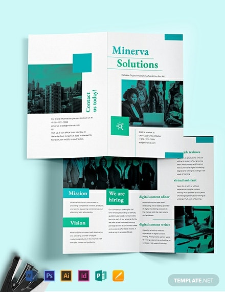 Business Training Bi-Fold Brochure Template