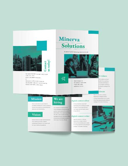 Business Training Bi-Fold Brochure Template