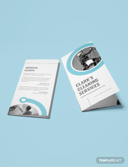 Cleaning Company TriFold Brochure Download
