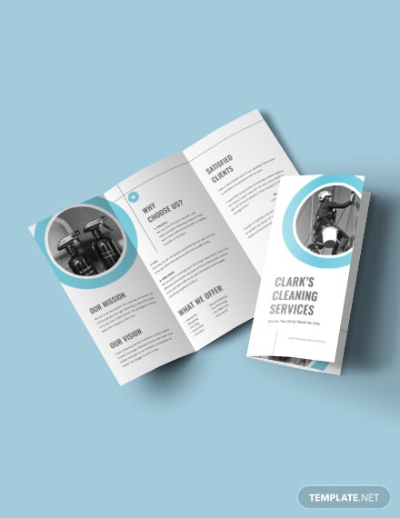Cleaning Company Tri-Fold Brochure Template