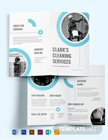 Cleaning Company Bi-Fold Brochure Template