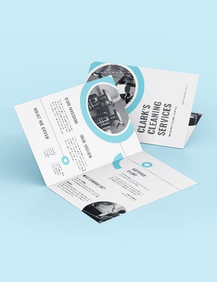 Cleaning Company Bi-Fold Brochure Template