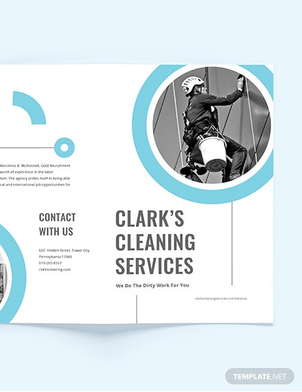 Sample Cleaning Company BiFold Brochure