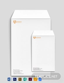 Advertising agency Envelope Template