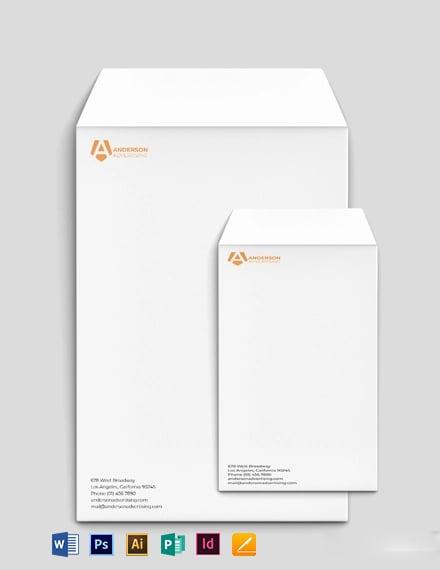 Advertising agency Envelope Template