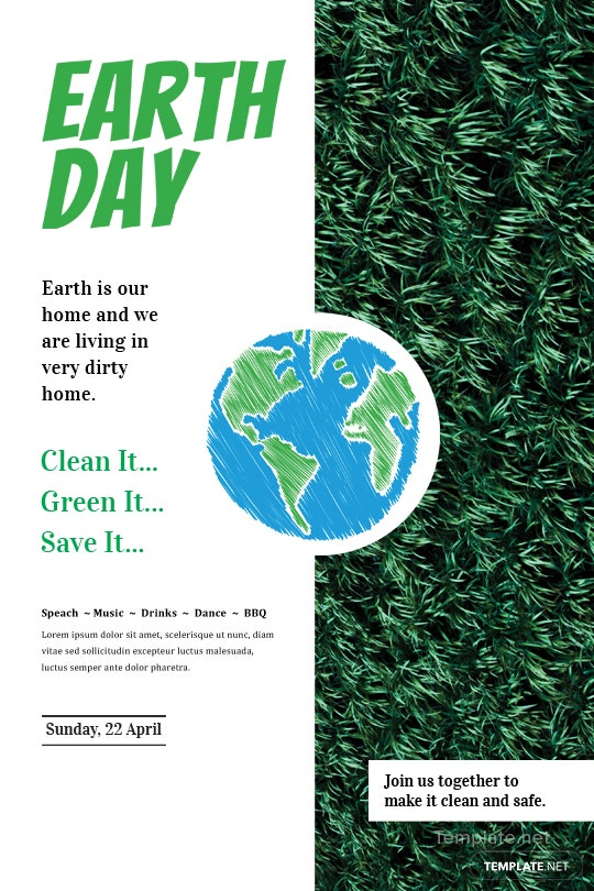 Free Earth Day Tumblr Post Template in Adobe Photoshop | Template.net