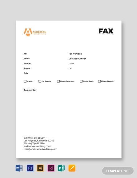 Advertising agency Fax Paper Template
