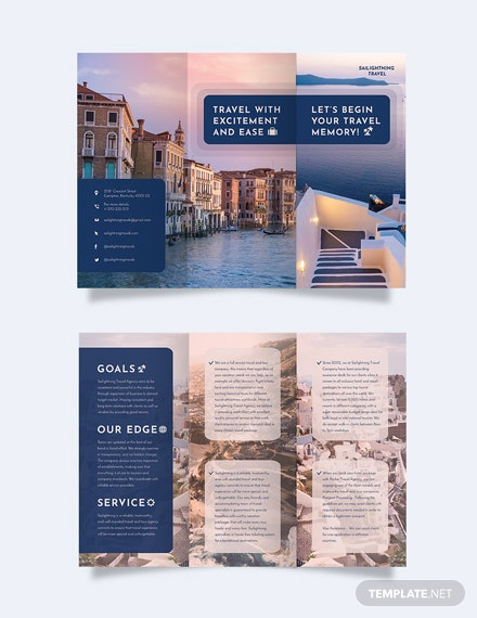 travel company tri fold brochure