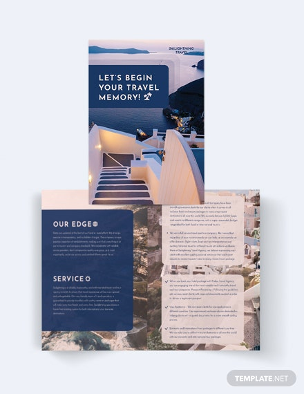 travel company bi fold brochure 2