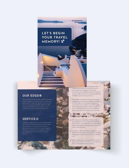 Travel Company Bi-Fold Brochure Template