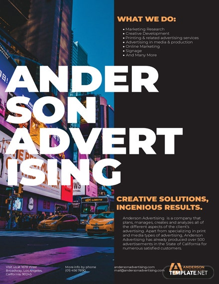 Advertising agency Flyer Template