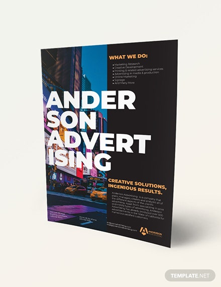 Advertising agency Flyer Download