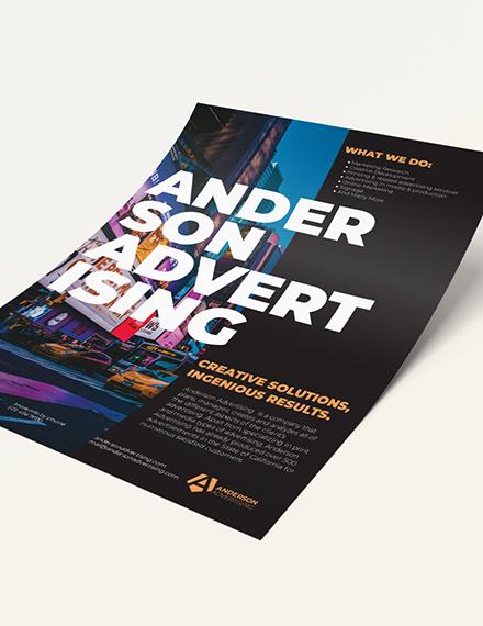 Advertising agency Flyer Sample