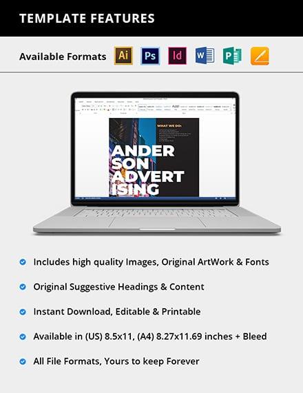 Editable Advertising agency Flyer
