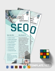 SEO Rack Card Template