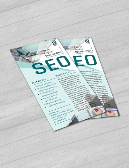 SEO Rack Card Template