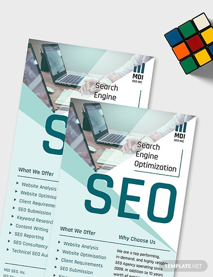 Sample SEO Rack Card