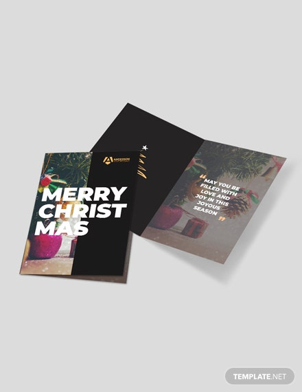 Advertising agency Greeting Card Template