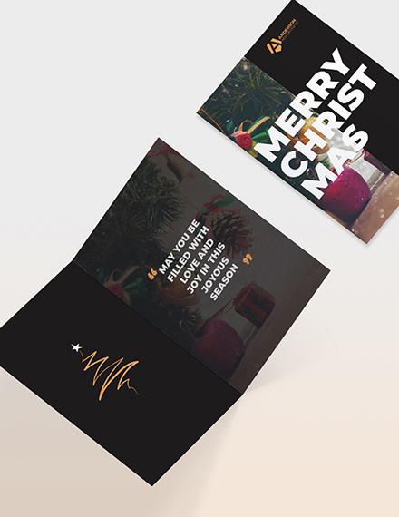 Sample Advertising agency Greeting Card