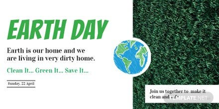 Free Earth Day Twitter Post Template