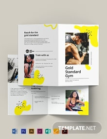 Fitness Bi-Fold Brochure Template