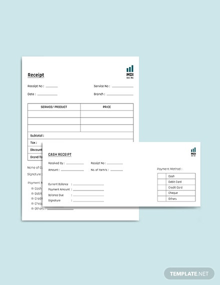 SEO Receipt Template