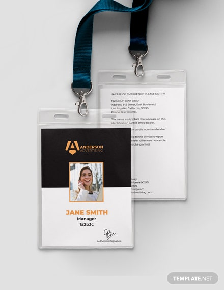 Advertising agency ID card Template