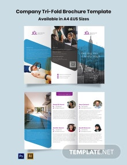Company Tri-Fold Brochure Template