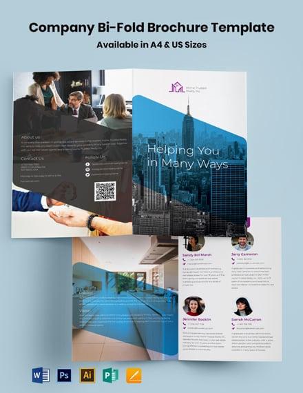 Company Bi-Fold Brochure Template