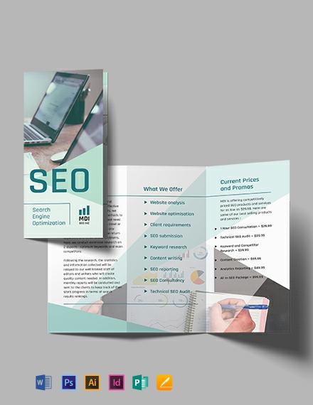 SEO Trifold Brochure Template