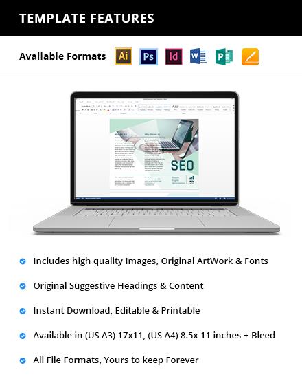SEO Trifold Brochure Printable