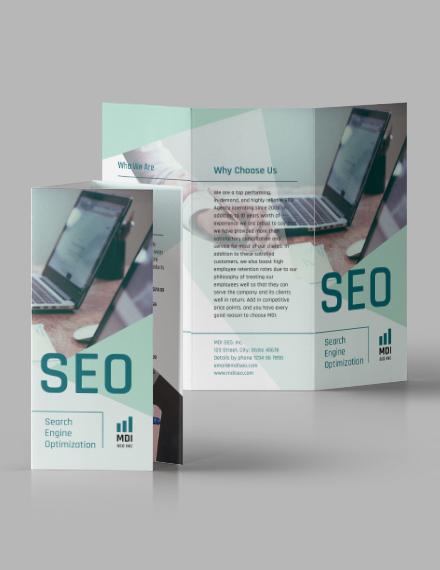 Sample SEO Trifold Brochure